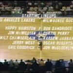 9 janvier 1972 Los Angeles Lakers - Milwaukee Bucks