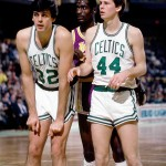 Kevin McHale, Michael Cooper and Danny Ainge 1985