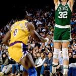 Kevin McHale et Orlando Woolridge 1989