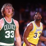 Magic Johnson et Larry Bird 1984