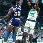 Reggie Lewis et Magic Johnson 1989