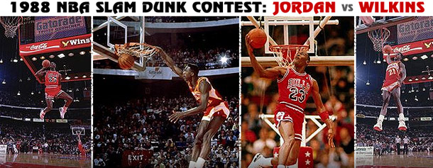 1988 Slam Dunk Contest All-Star Game Chicago