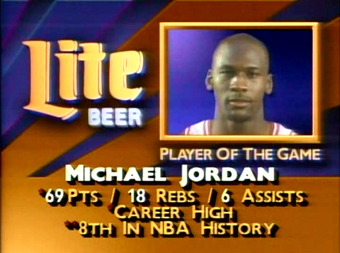 Michael Jordan 69 points Bulls vs Cavaliers