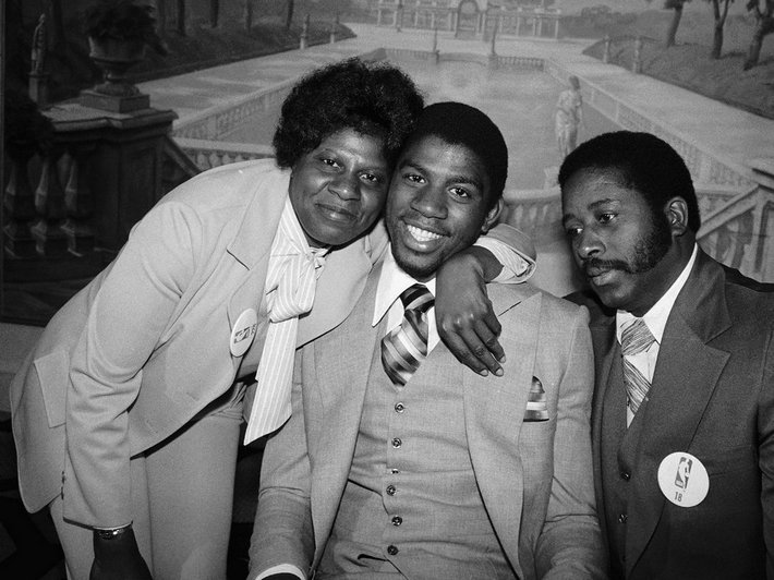 Magic avec ses parents en 79