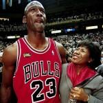 Michael Jordan et sa mère en 1998