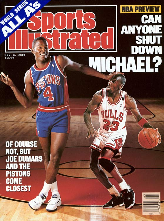Michael Jordan & Joe Dumars. Sports illustrated #45