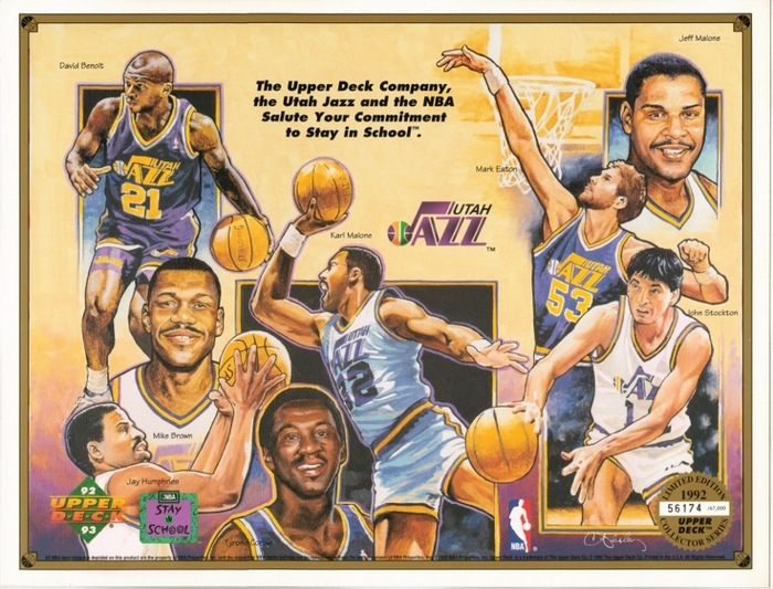 Utah Jazz 1992 Upper Deck