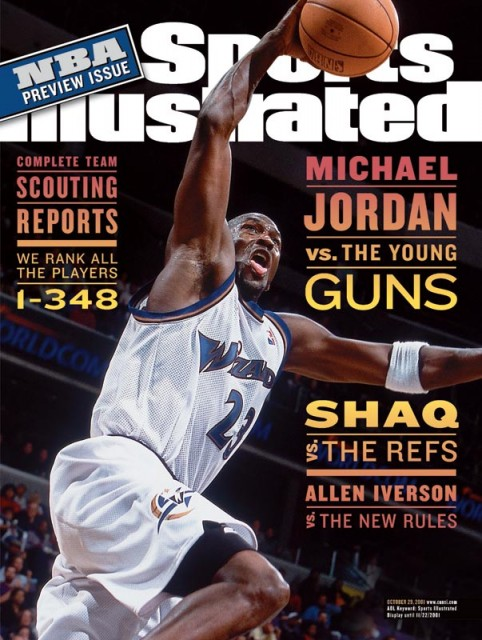 Michael Jordan Wizard Sports Illustrated octobre 2001