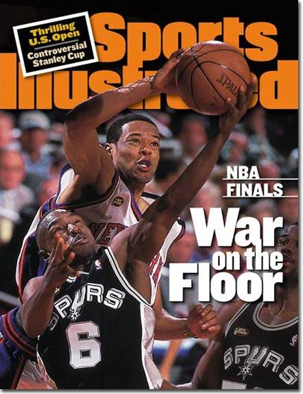 Spurs - Knicks. Sports Illustrated. 1999 NBA finals