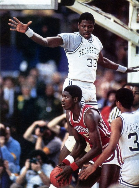 Akeem Olajuwon & Pat Ewing, Finale NCAA 1984