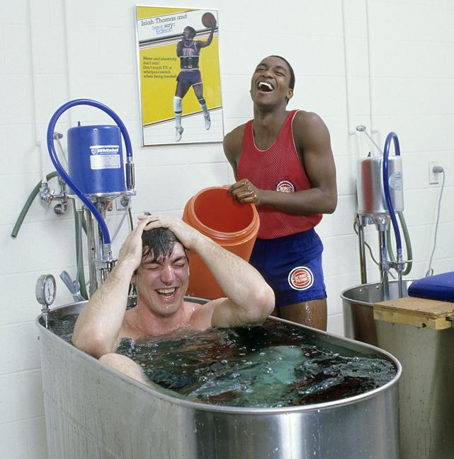 Isiah Thomas & Bill Laimbeer, Detroit Pistons