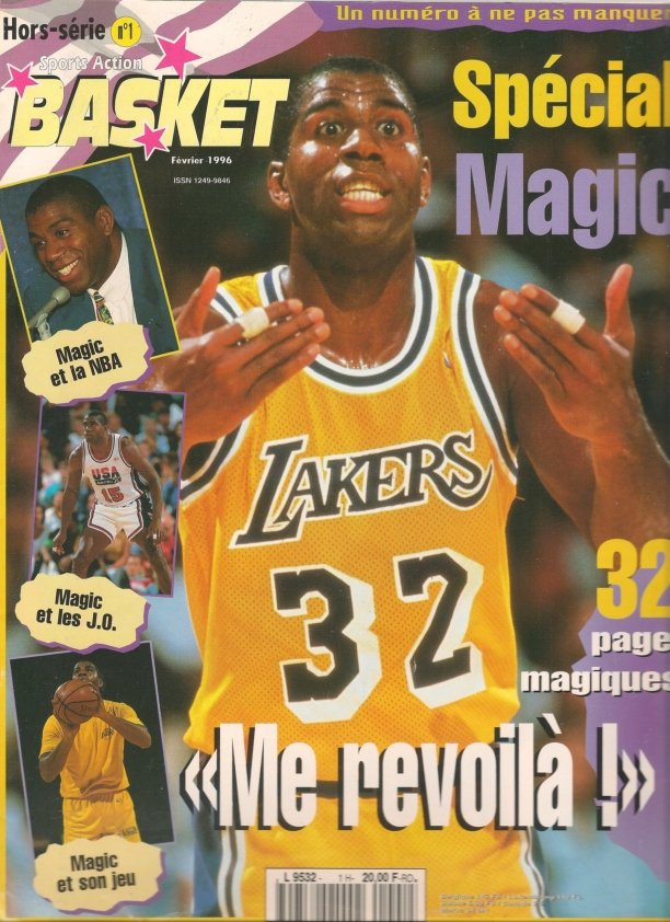 Sports Action Basket HS N°1 - Spécial Magic Johnson, février 1996