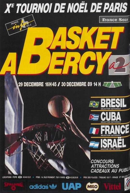 Affiche 10e tournoi de Noël de Paris, 1989