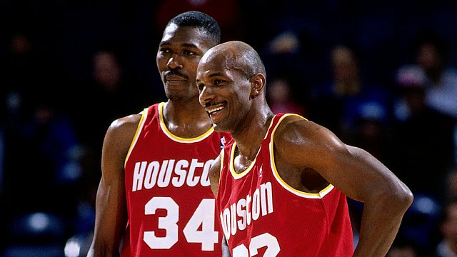 Clyde Drexler and Hakeem Olajuwon Game Portrait